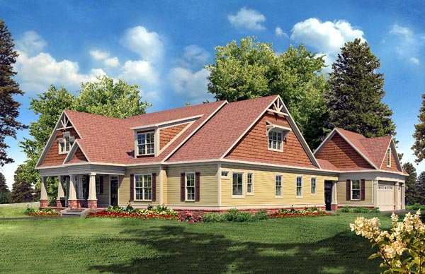 Craftsman Traditional House Plan 58230 Elevation