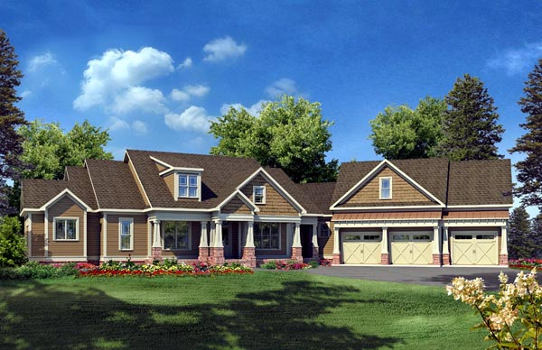 Craftsman House Plan 58232 Elevation
