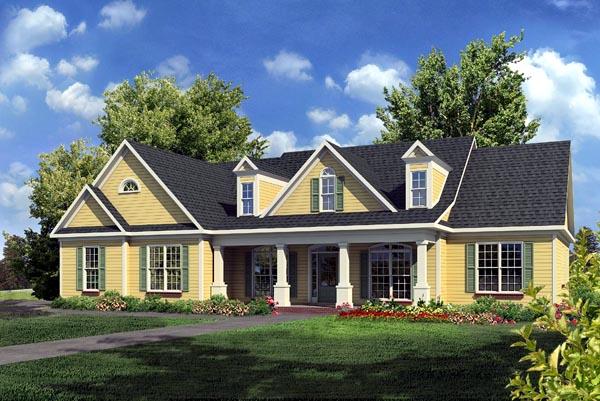 Craftsman Traditional House Plan 58235 Elevation