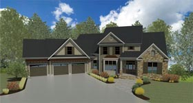 Craftsman Traditional House Plan 58237 Elevation