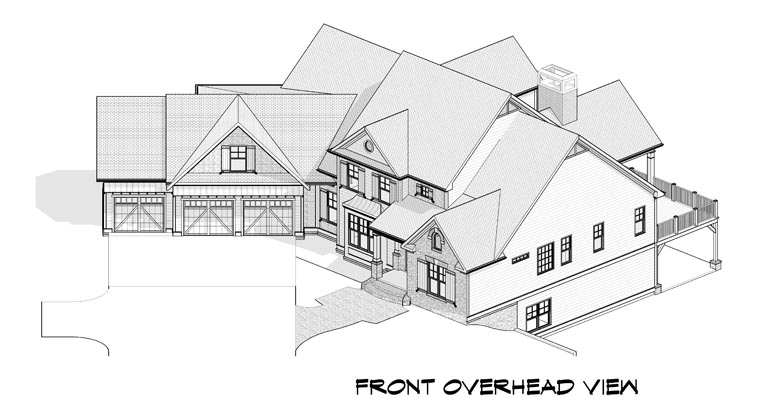 Craftsman, Traditional House Plan 58237 with 5 Beds, 5 Baths, 3 Car Garage Picture 3