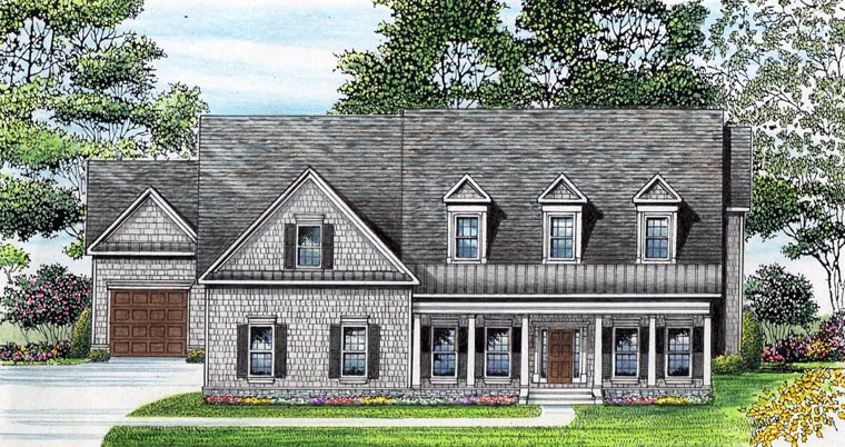 Cape Cod Traditional House Plan 58240 Elevation