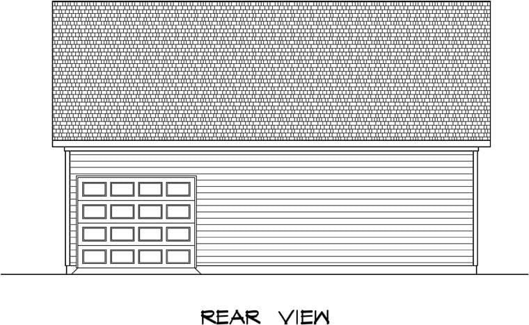 Rear Elevation of Plan 58241