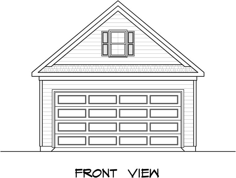 Garage Plan 58242 Elevation