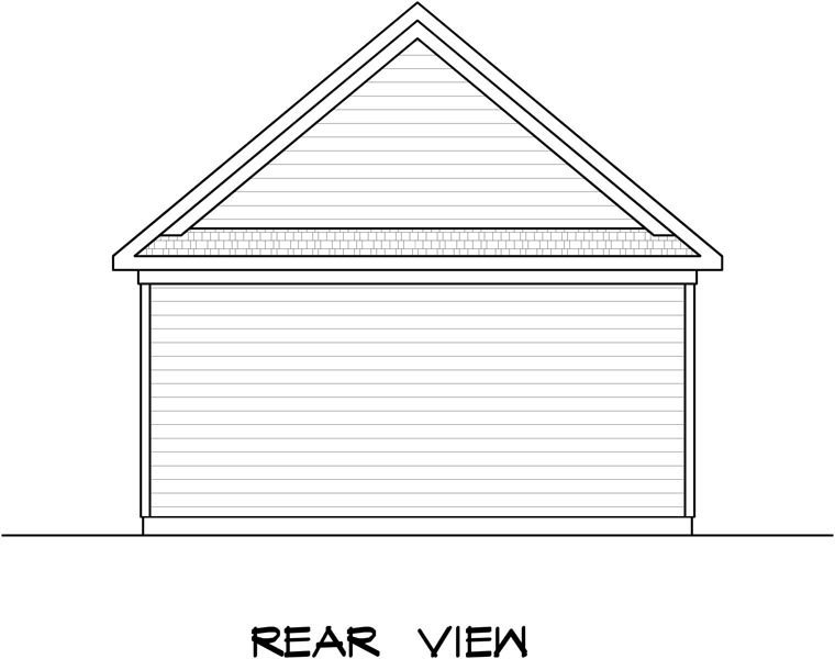 Garage Plan 58242 Rear Elevation