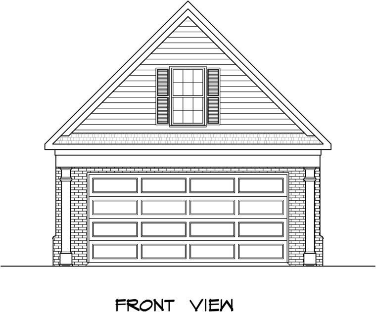 Garage Plan 58243 Elevation
