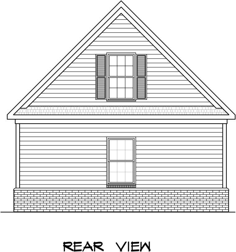 Garage Plan 58243 Rear Elevation