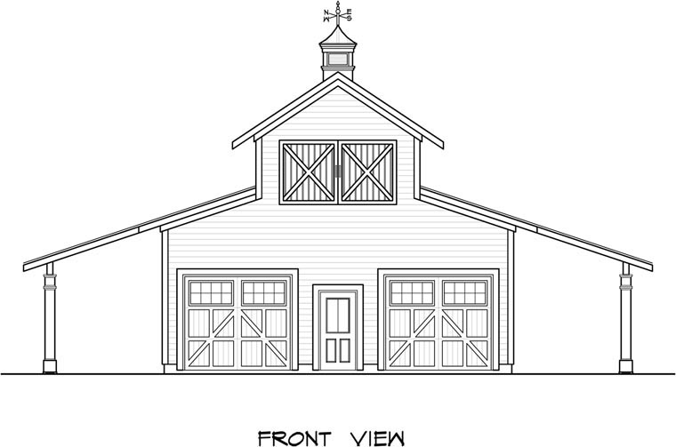 Garage Plan 58244 Elevation