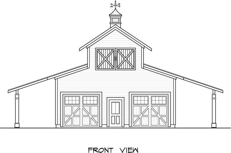 Garage Plan 58244 Elevation