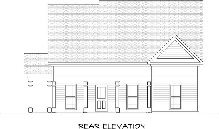 Garage Plan 58246 Rear Elevation
