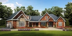 Craftsman Traditional House Plan 58252 Elevation