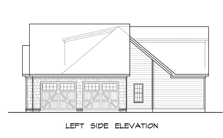 Craftsman, Traditional House Plan 58252 with 3 Beds, 4 Baths, 2 Car Garage Picture 1