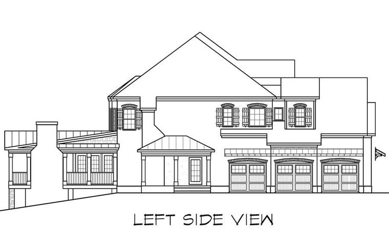 Craftsman, European, Traditional House Plan 58256 with 5 Beds, 6 Baths, 3 Car Garage Picture 1