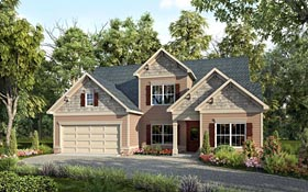 Craftsman Traditional House Plan 58260 Elevation