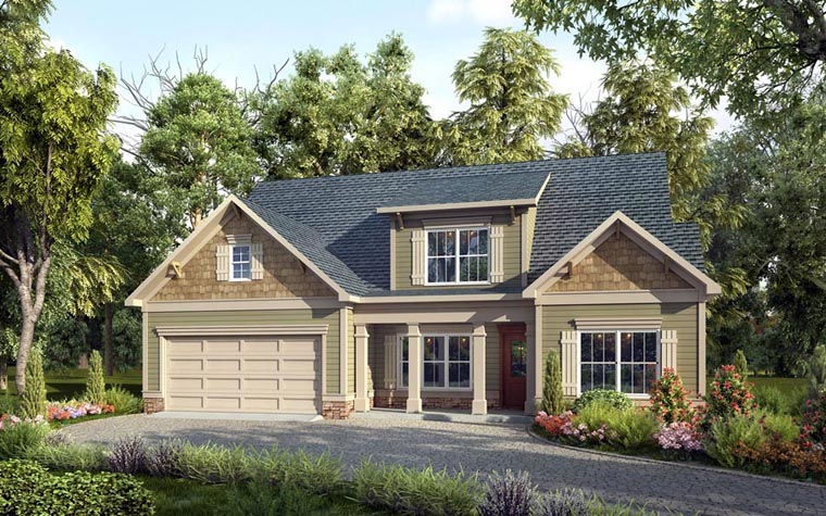 Craftsman Traditional House Plan 58261 Elevation