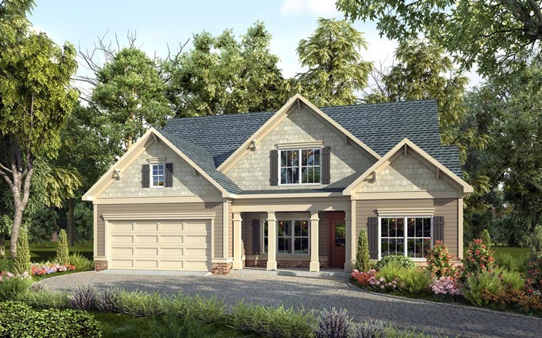 Craftsman Traditional House Plan 58262 Elevation