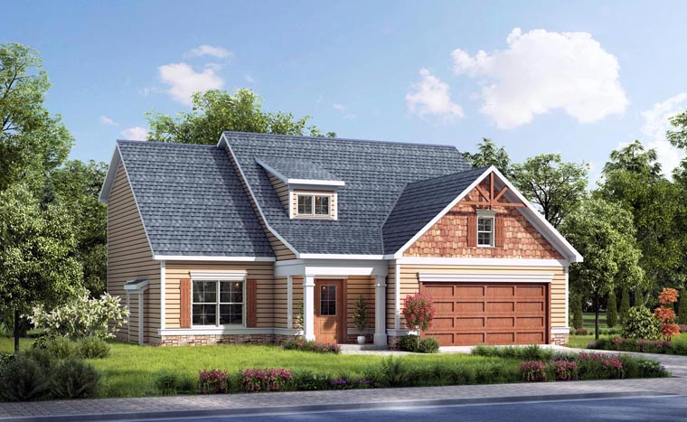 Cottage Craftsman Traditional House Plan 58268 Elevation