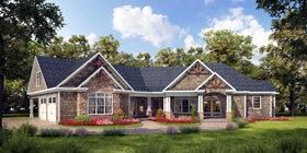 Cottage Country Craftsman Traditional House Plan 58273 Elevation