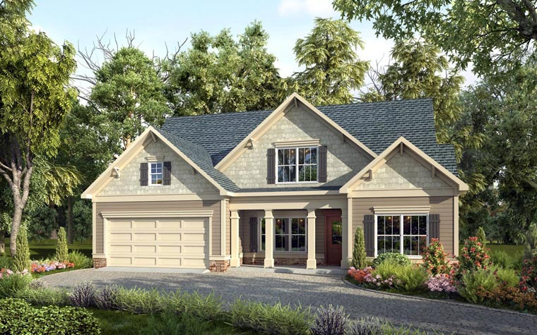 Craftsman Traditional House Plan 58275 Elevation