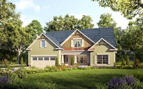 Bungalow Country Craftsman Traditional House Plan 58276 Elevation