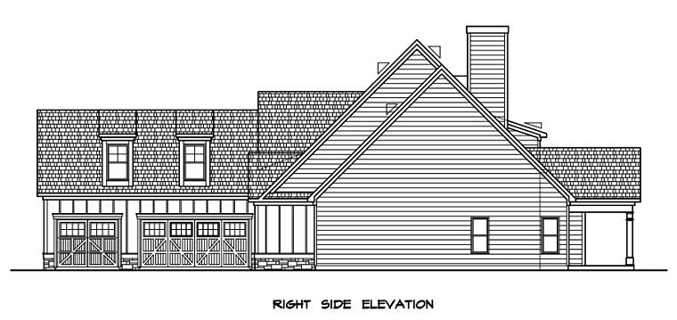 Craftsman, Traditional House Plan 58277 with 4 Beds, 4 Baths, 3 Car Garage Picture 1