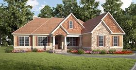 Craftsman House Plan 58282 with 3 Beds, 3 Baths, 2 Car Garage Elevation