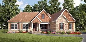 Cottage Craftsman Traditional House Plan 58284 Elevation