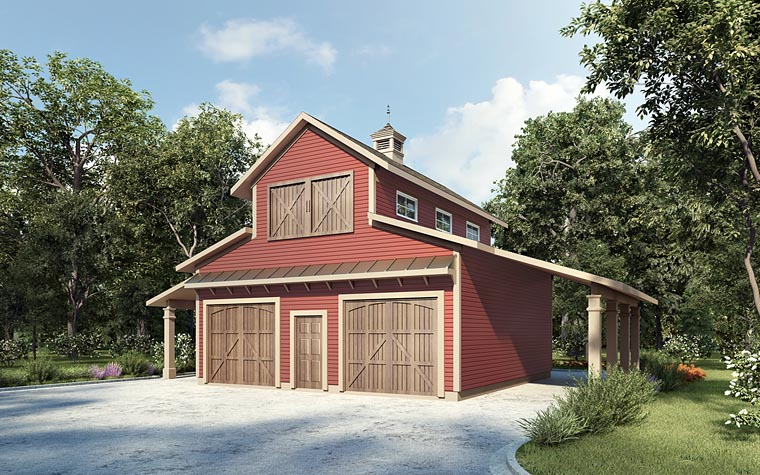 Garage Plan 58286 Elevation