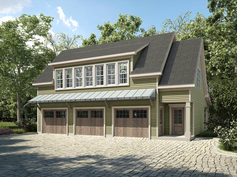 Contemporary Country Garage Plan 58287 Elevation