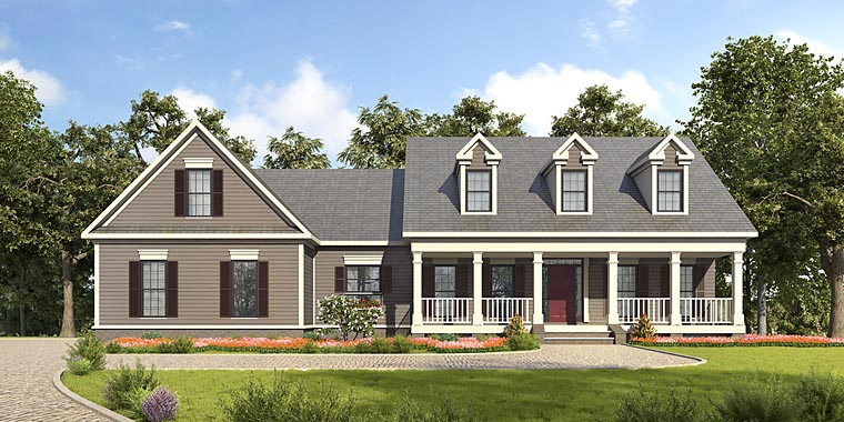 Country Southern House Plan 58288 Elevation