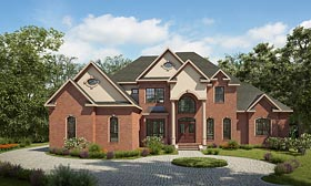 European Traditional House Plan 58289 Elevation
