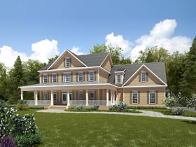 Country Southern House Plan 58291 Elevation