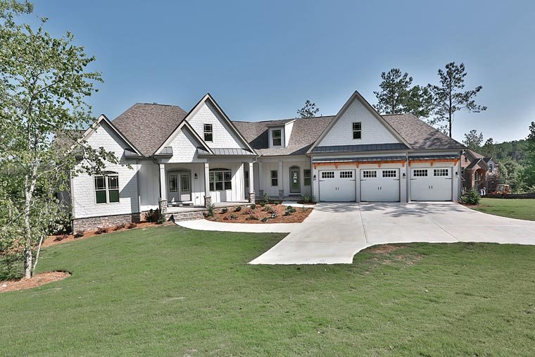 Traditional, House Plan 58298 with 3 Beds, 4 Baths, 3 Car Garage Elevation