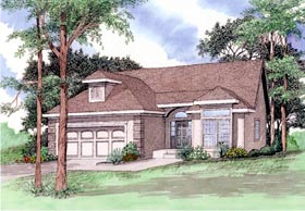 European House Plan 58410 Elevation