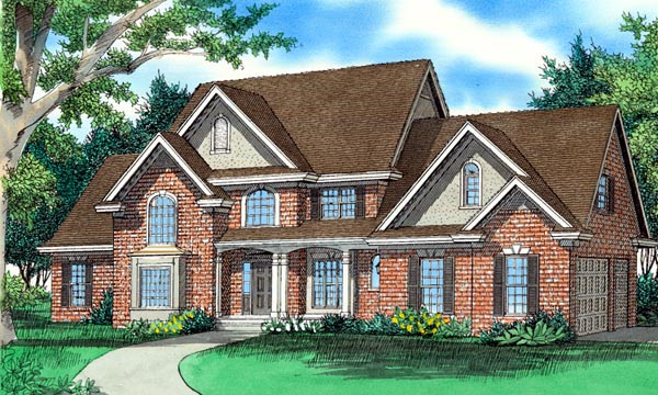 European House Plan 58414 Elevation