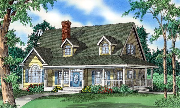 Country House Plan 58415 Elevation