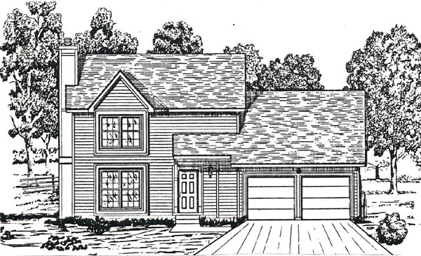 House Plan 58421 with 3 Beds, 3 Baths, 2 Car Garage Picture 1