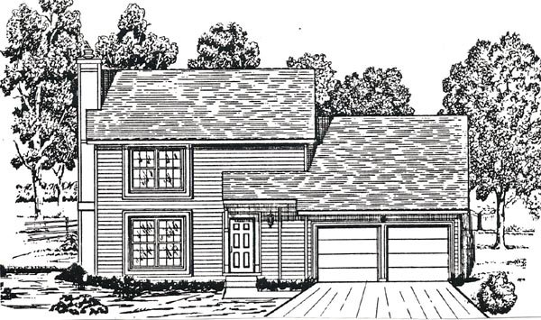 House Plan 58421 with 3 Beds, 3 Baths, 2 Car Garage Picture 2