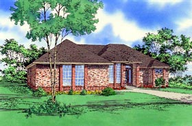 House Plan 58464 Elevation