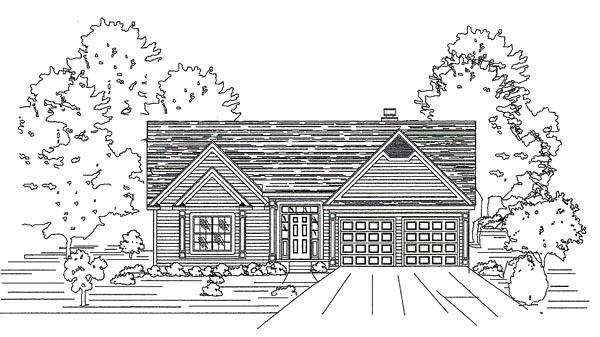 House Plan 58481 Elevation