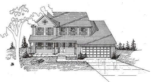 House Plan 58484 with 5 Beds, 3 Baths, 2 Car Garage Elevation