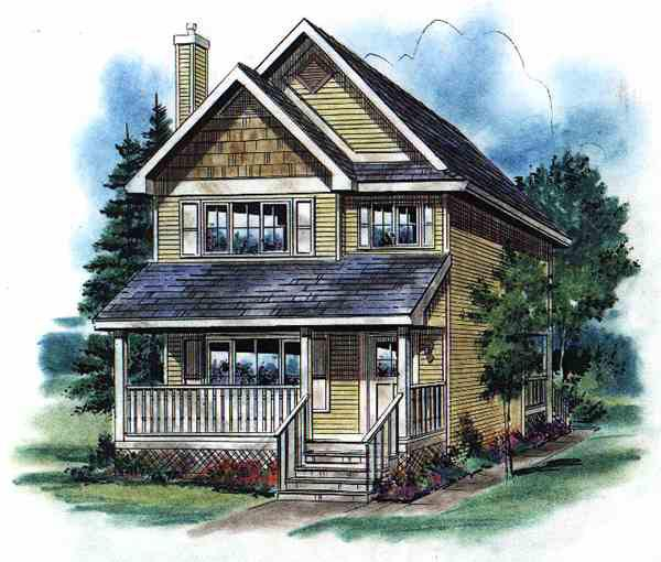 House Plan 58500 Elevation