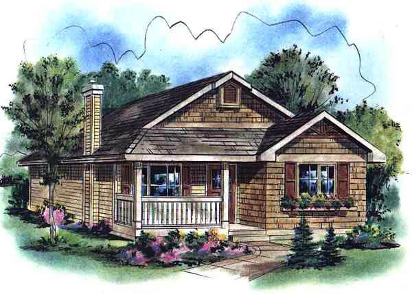 Country House Plan 58503 Elevation