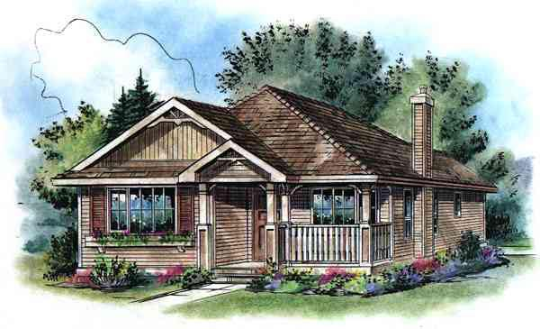 Contemporary House Plan 58505 Elevation