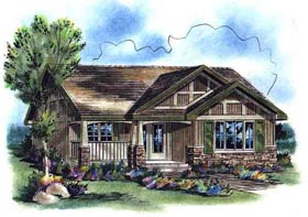 Plan Number 58507 - 940 Square Feet