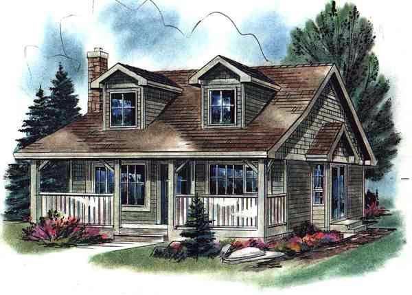 Cape Cod House Plan 58508 Elevation