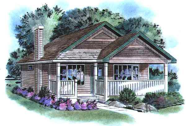 Country House Plan 58509 Elevation