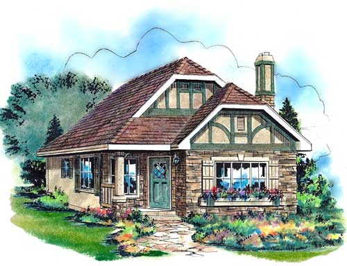 Tudor House Plan 58510 Elevation