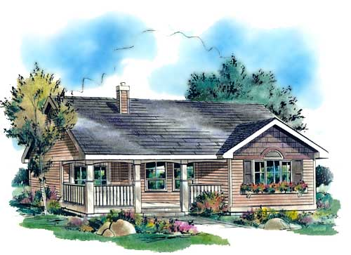 Ranch House Plan 58511 Elevation