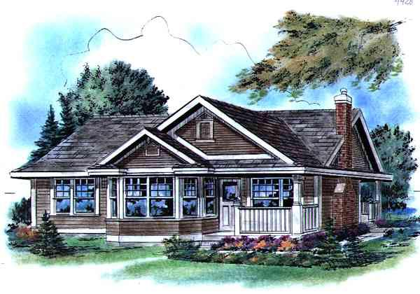 Ranch Elevation of Plan 58512